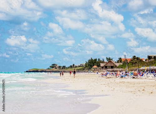 Beach in Varadero, Matanzas Province, Cuba Wallpaper Mural