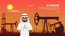 Arabic Businessman Behind Oil ...