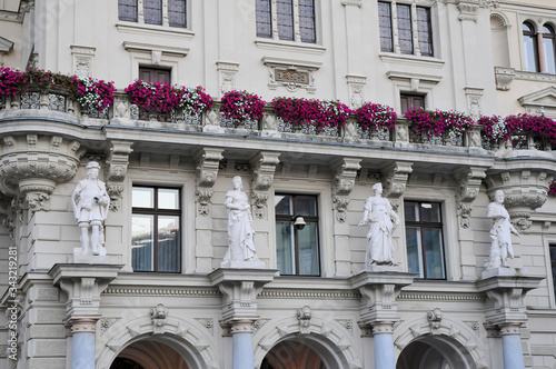 Photo Detail of Town hall facade in Graz, Austria