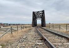 Railway Bridge In The Alberta ...