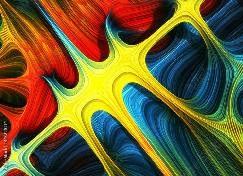 Fractal 3D abstraction - colours background  © Wojciech Rochowicz