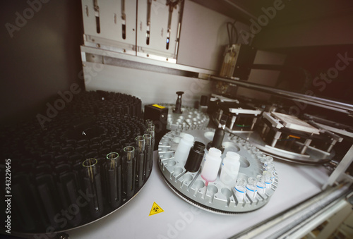 Medical equipment and apparatus for biochemistry in a modern laboratory Canvas Print