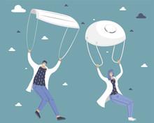 Doctors Descend On Parachutes....