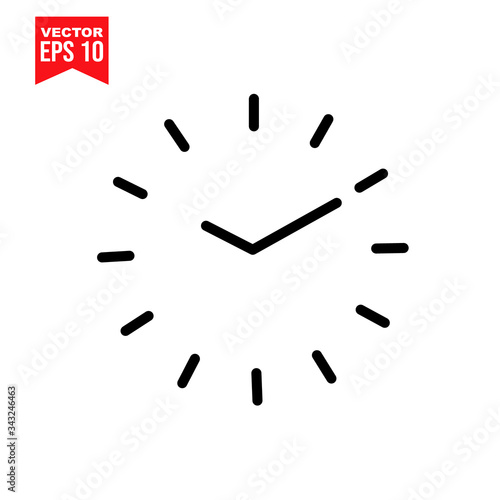 Fototapeta clock on a white background symbol with garbage Icon symbol Flat vector illustration for graphic and web design. obraz na płótnie