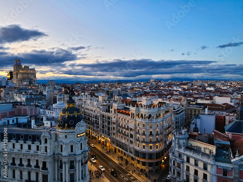 Sky Lounge View in Madrid Saw Madrid scenery for a long time Canvas Print
