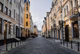 Fototapeta Uliczki - Empty streets of Kiev