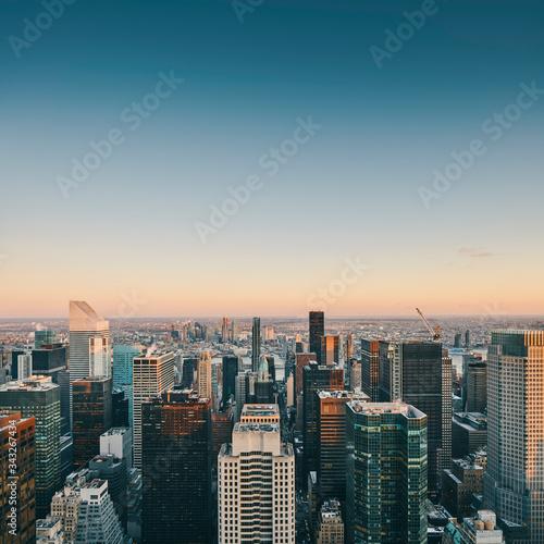 new york city at dusk Wall mural