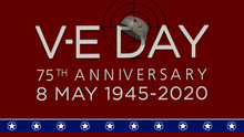 VE Day Inscription With World ...