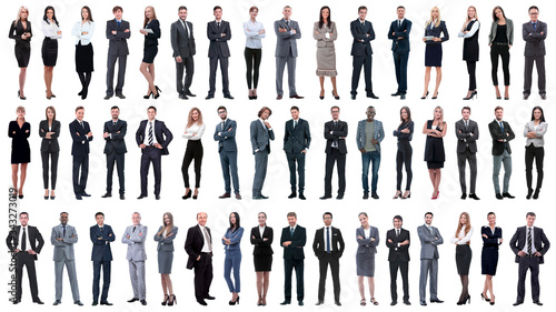 Obraz collage of a variety of business people standing in a row - fototapety do salonu