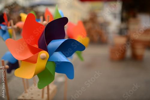 Fotografia, Obraz Close-up Of Colorful Pinwheel Toy