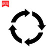 arrows cycle Icon symbol Flat vector illustration for graphic and web design.