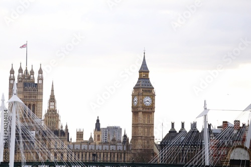 Fotografía Big Ben And Palace Of Westminster Against Sky