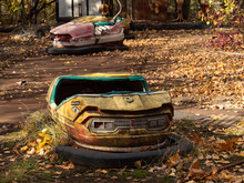 Bumper Cars In Abandoned Amuse...
