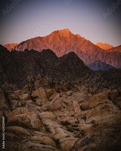 Платно sunrise alabama hills alpenglow
