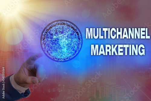 Fototapeta Writing note showing Multichannel Marketing
