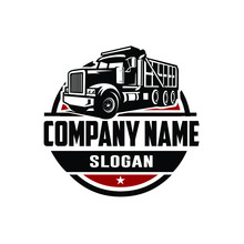 Dump Truck Logo Template Side ...