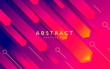 Abstract Modern Background Gradient Color. Orange And Blue Gradient Arrow Shape.