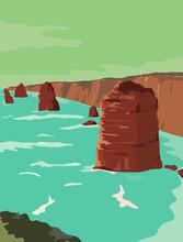 Retro WPA Illustration Of Twel...
