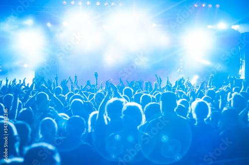 Fotografiet Crowd At Music Concert