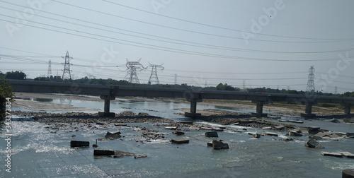 mahananda barrage in siliguri Canvas Print