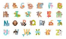 Animal Alphabet With Ornamenta...