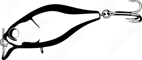 Fotografía Fishing lure vector illustration on white background