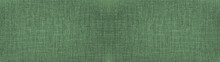 Dark Mint Green Natural Cotton Linen Textile Texture Background Banner Panorama Long