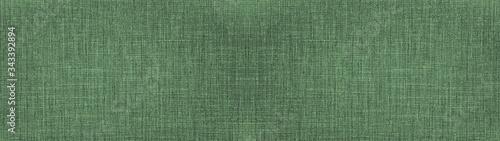 Fotografija Dark mint green natural cotton linen textile texture background banner panorama