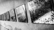 Leinwanddruck Bild - Close-up Of Dirty Mirrors On Wall