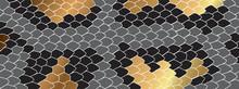 Gold Boa Skin Background Vecto...