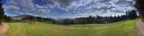Panorama na Beskid Wyspowy - Rabka Zdrój - okolice góry Grzebień