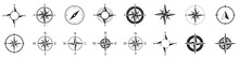 Compass Icons. Set Of Vector C...