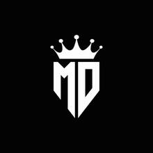 MD Logo Monogram Emblem Style ...