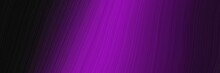 Elegant Dynamic Designed Horizontal Poster With Very Dark Pink, Dark Magenta And Purple Colors. Fluid Curved Lines With Dynamic Flowing Waves And Curves