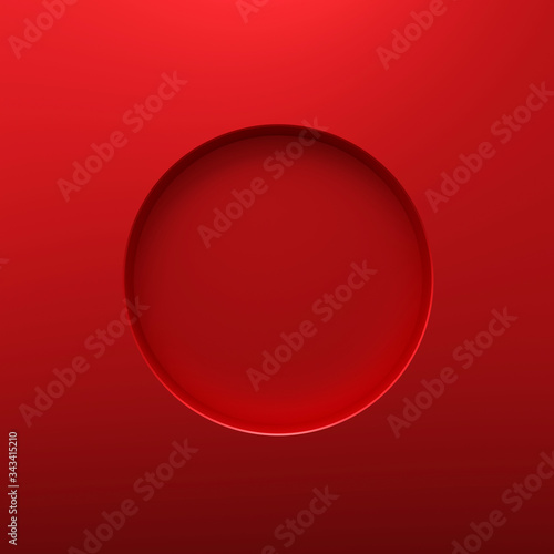 Red round frame or circle hole on steel hole background with borders concept Tapéta, Fotótapéta