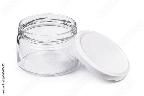 Fotografia Small empty glass jar with a lid