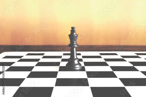 lone king has absolute power on the chessboard Wallpaper Mural
