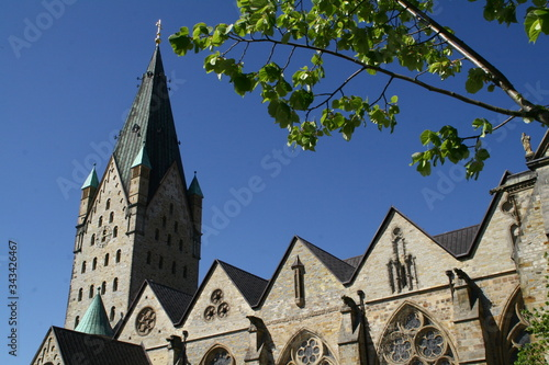 cathedral to paderborn, nrw, germany, Canvas Print