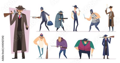 Mafia characters Fototapet