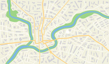 City Map With Gps. Seamless Pa...