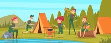 Outdoor Scouts. Teacher Studyi...