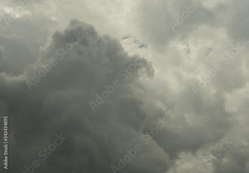 Cumulonimbus cloud formations on tropical sky , Nimbus moving , Abstract backgro Canvas Print