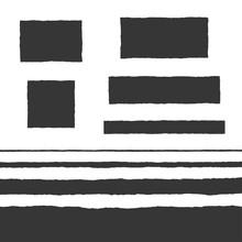 Rough Edge Text Box Shape Vector Flat Backgrounds Set