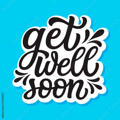 Get well soon lettering Fototapet