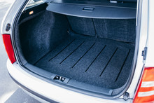 Empty Trunk Of The Silver Car