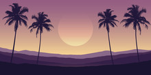 Beautiful Palm Tree Silhouette...
