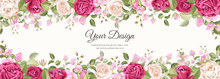 Beautiful Banner Floral And Le...