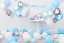 Baby Shower Party For Boy. Tas...