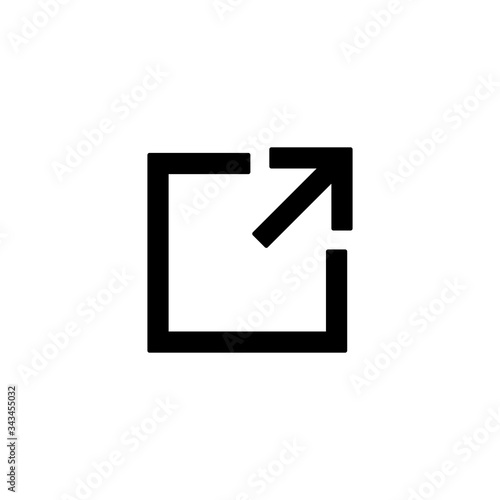Fototapeta external link icon, external link sign and symbol vector design obraz