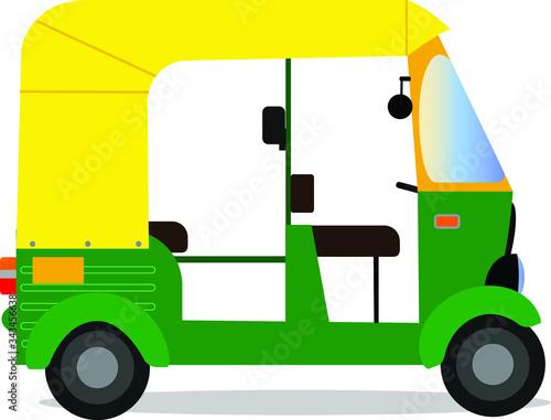Indian auto rickshaw isolated on white background ,tuk-tuk vector design Tapéta, Fotótapéta